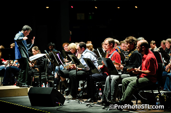 """The first St. Louis performance of Glenn Branca's symphony for 100 guitars, """"Symphony No. 13 (Hallucination City)"""" at St. Louis' leading entertainment venue, The Pageant, on Thursday, November 13, 2008."""