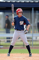 March 22, 2010:  Roberto Perez of the Washington Nationals organization during Spring Training at the Carl Barger Training Complex in Melbourne, FL.  Photo By Mike Janes/Four Seam Images