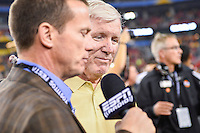 January 01, 2014:<br /> <br /> University of Central Florida Head Coach George O'Leary during post Fiesta Bowl interview at University of Phoenix Stadium in Scottsdale, AZ. UCF defeat Baylor 52-42 to claim it's first ever BCS Bowl trophy.