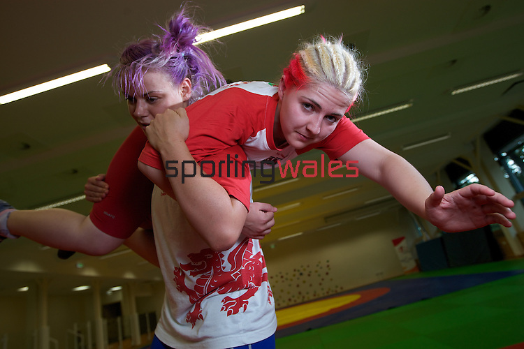 Welsh Wrestlers Sarah Connolly (right) and Kate Rennie..20.07.10.Photo Credit: Steve Pope-Sportingwales...