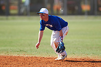 Illinois College Blueboys second baseman Tim Sommerfeld (31) during a game against the Edgewood Eagles on March 14, 2017 at Terry Park in Fort Myers, Florida.  Edgewood defeated Illinois College 11-2.  (Mike Janes/Four Seam Images)