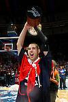 Caja Laboral Baskonia's Carl English celebrates the victory in the ACB Finals. June 15,2010. (ALTERPHOTOS/Acero)