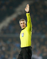 AVELLANEDA - ARGENTINA - 29 - 06 - 2017: Anderson Daronco, arbitro de Brasil, durante partido entre Racing Club de Argentina y Deportivo Independiente Medellin de Colombia, por la segunda fase llave 1 por la Copa Conmebol Sudamericana 2017 en el estadio Juan Domingo Peron de la ciudad de Avellaneda. / Anderson Daronco, referee, from Brazil, during a match between Racing Club of Argentina and Deportivo Independiente Medellin of Colombia of the second phase, key 1 for the Copa Conmebol Sudamericana 2017, at the Juan Domingo Peron Stadium in Avellaneda city. Photo: VizzorImage / Javier Garcia Martino / Photogamma / Cont.