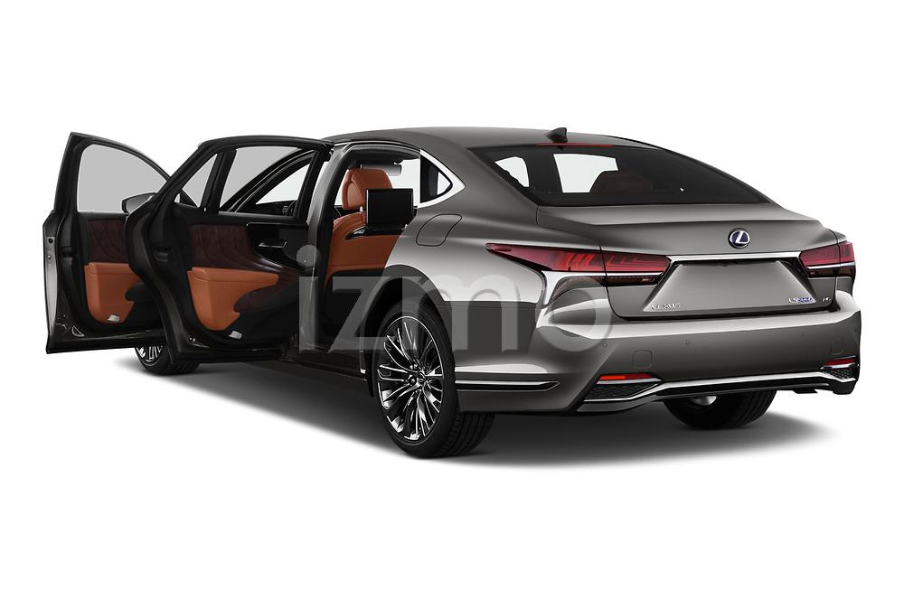 Car images close up view of a 2018 Lexus LS President 4wd 4 Door Sedan doors