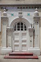Stone Town, Zanzibar, Tanzania.  Shia Ithnasheri Imambara Mosque Door.