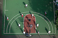 12 June 2006 - New York City, NY - Players compete in the tryouts for the Ruckers street basketball tournament, at Ruckers Park in Harlem, New York City, USA, Sunday June 12 2005. Photo Credit: David Brabyn