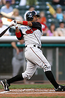 August 12, 2009: Carlos Corporan of the Nashville Sounds, Pacific Cost League Triple A affiliate of the Milwaukee Brewers, during a game at the Spring Mobile Ballpark in Salt Lake City, UT.  Photo by:  Matthew Sauk/Four Seam Images