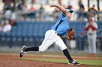 Charlotte Stone Crabs pitcher Nick Sawyer (20) delivers a pitch during a game against the Palm Beach Cardinals on April 12, 2014 at Charlotte Sports Park in Port Charlotte, Florida.  Palm Beach defeated Charlotte 6-2.  (Mike Janes/Four Seam Images)
