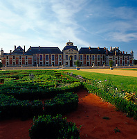 """The imposing facade of Champ de Bataille, a chateau in Normandy once owned by the Duc d""""Harcourt and now the country home of designer Jacques Garcia"""
