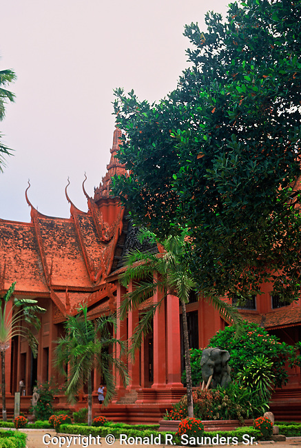 The National Museum of Cambodia in Phnom Penh is Cambodia's largest museum of cultural history and is the country's leading historical and archaeological museum. The museum houses is one of the world's largest collections of Khmer art, including sculptural, ceramics, bronzes, and ethnographic objects.