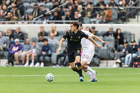 LOS ANGELES, CA - MARCH 01: Francisco Ginella #8 of LAFC advances the ball n a match against Inter Miami CF during a game between Inter Miami CF and Los Angeles FC at Banc of California Stadium on March 01, 2020 in Los Angeles, California.