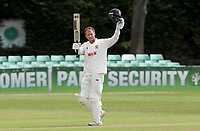 Tom Westley of Essex celebrates scoring a century of runs during Worcestershire CCC vs Essex CCC, LV Insurance County Championship Group 1 Cricket at New Road on 30th April 2021
