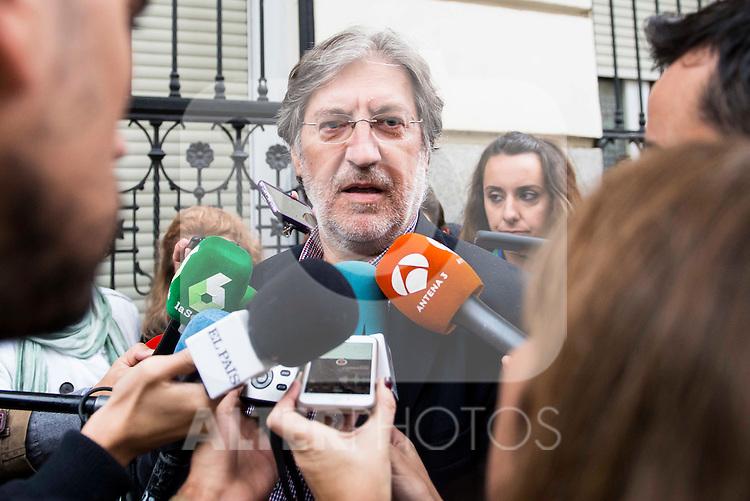 José Antonio Pérez Tapias attends to the meeting of PSOE's Federal Committee at PSOE's headquarters in Ferraz, Madrid. October 23, 2016. (ALTERPHOTOS/Borja B.Hojas)