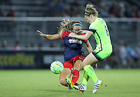 Boyds, MD - Wednesday Sept. 07, 2016: Shelina Zardorsky, Kim Little during a regular season National Women's Soccer League (NWSL) match between the Washington Spirit and the Seattle Reign FC at Maureen Hendricks Field, Maryland SoccerPlex.