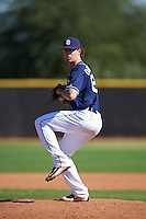 San Diego Padres pitcher Dom DiSabatino (82) during an Instructional League game against the Texas Rangers on October 3, 2016 at the Peoria Sports Complex in Peoria, Arizona.  (Mike Janes/Four Seam Images)
