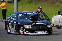Jun. 19, 2011; Bristol, TN, USA: NHRA pro stock driver Erica Enders during eliminations at the Thunder Valley Nationals at Bristol Dragway. Mandatory Credit: Mark J. Rebilas-