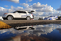 Feb. 26, 2011; Pomona, CA, USA; NHRA funny car driver Robert Hight during qualifying at the Winternationals at Auto Club Raceway at Pomona. Mandatory Credit: Mark J. Rebilas-.