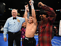 ONTARIO, CA - DECEMBER 21: Oscar Escandon after defeating Jhack Tepora on the Fox Sports PBC Fight Night at Toyota Arena on December 21, 2019 in Ontario, California. (Photo by Frank Micelotta/Fox Sports/PictureGroup)