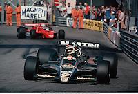 CARLOS REUTEMANN (ARG), Martini Racing Lotus, Monaco Grand Prix, Monte Carlo, 790527. Photo: Leo Mason/Action Plus...1979.formula 1 f1.driver drivers.motor sport sports motorsport motorsports.racing car cars.grand prix gp