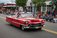 Red Cadillac, Independence Day Parade 2016, Burien, Washington, USA.