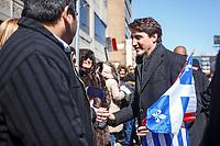Le premier ministre Justin Trudeau participe au defile du jour de l'independance grecque, dimanche 25 mars 2018<br /> <br /> PHOTO : Agence Quebec Presse <br /> <br /> <br /> <br /> <br /> <br /> <br /> <br /> PHOTO :   Agence Quebec Presse
