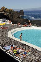 Meerespool in Santo Antonio auf der Insel Pico, Azoren, Portugal