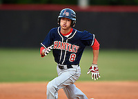 Lake Brantley Patriots Alex Ray (08) during a game against the Lake Mary Rams on April 2, 2015 at Allen Tuttle Field in Lake Mary, Florida.  Lake Brantley defeated Lake Mary 10-5.  (Mike Janes/Four Seam Images)