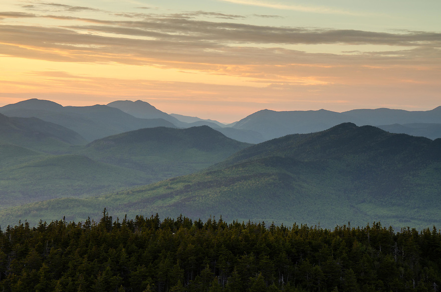 An outstanding view can be had from the summit of this White Mountain peak.
