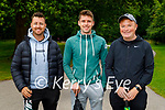 Enjoying a stroll in the National Park in Killarney on Monday, l to r: Jonathan Doolan, David Cahill and Denis McCarthy.