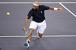 SHANGHAI, CHINA - OCTOBER 12:  James Blake of the US returns a shot to Ivo Karlovic of Croatia during day two of 2009 Shanghai ATP Masters 1000 at the Qi Zhong Tennis Centre in Shanghai. Photo by Victor Fraile / The Power of Sport Images