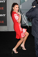 """Amber Davies<br /> arriving for the """"Bright"""" European premiere at the BFI South Bank, London<br /> <br /> <br /> ©Ash Knotek  D3364  15/12/2017"""