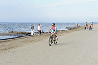 am Strand von Jurmala-Majori, Lettland, Europa