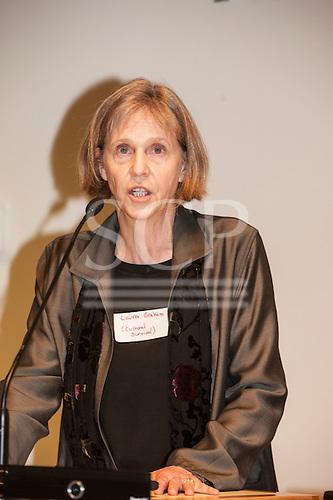 Washington DC, USA. Chico Vive conference, 5th April 2014. Conference speaker Laura Graham (Cultural Survival).