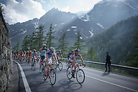 A 2nd grupetto (up the 2001m Cervinia climb) finishes 50 minutes behind stage winner Aru<br /> <br /> <br /> Giro d'Italia 2015<br /> stage 19: Gravellona Toce - Cervinia (236km)