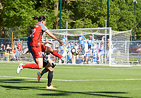 Kansas City, MO - Saturday May 13, 2017:  Christine Sinclair, Yael Averbuch, during a regular season National Women's Soccer League (NWSL) match between FC Kansas City and the Portland Thorns FC at Children's Mercy Victory Field.