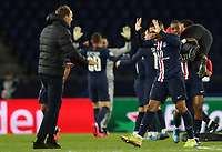 Soccer Football - Champions League - Round of 16 Second Leg - Paris St Germain v Borussia Dortmund - Parc des Princes, Paris, France - March 11, 2020  Paris St Germain's Kylian Mbappe celebrates after the match with coach Thomas Tuchel    <br /> Photo Pool/Panoramic/Insidefoto