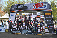 25th April 2021; Zagreb, Croatia; WRC Rally of Croatia, Final stages; Podium with winners Sebastien Ogier-Toyota Yaris WRC, 2nd Elfyn Evans and in 3rd place Thierry Neuville