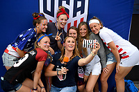 Cleveland, Ohio - Tuesday June 12, 2018: USA supporters during an international friendly match between the women's national teams of the United States (USA) and China PR (CHN) at FirstEnergy Stadium.