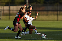 SAN ANTONIO, TX - AUGUST 11, 2016: The University of the Incarnate Word Cardinals fall 4-0 to the University of Texas at San Antonio Roadrunners in an exhibition soccer match at the Park West Athletics Complex . (Photo by Jeff Huehn)