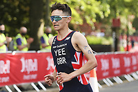 6th June 2021; Leeds, Yorkshire, England;  Alex Yee in front during the AJ Bell 2021 World Triathlon Series Event in Roundhay Park, Leeds.