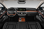 Stock photo of straight dashboard view of 2019 KIA K900 Luxury 4 Door Sedan Dashboard