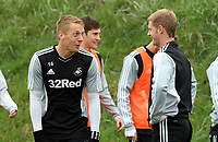 Swansea City FC, training session, Llandarcy, Swansea, 16/03/12<br /> Pictured: Garry Monk and Alan Tate (right)<br /> Picture by: Ben Wyeth / Athena Picture Agency<br /> info@athena-pictures.com