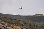 UAE flag atop Jais Mountain during Stage 5 of the 2021 UAE Tour running 170km from Fujairah to Jebel Jais, Ras Al Khaimah, UAE. 25th February 2021.  <br /> Picture: Eoin Clarke   Cyclefile<br /> <br /> All photos usage must carry mandatory copyright credit (© Cyclefile   Eoin Clarke)