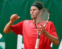 16-8-09, Den Bosch,Nationale Tennis Kampioenschappen, Finale mannen,  Jasper Smit juicht, hij wint de NTK