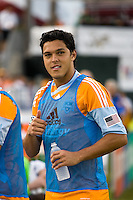 Houston Dynamo forward Luis Angel Landin (7) makes his debut with the team.  Houston Dynamo tied Seattle Sounders 1-1 on August 23, 2009 at Robertson Stadium in Houston, TX.