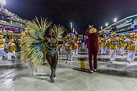 Rio de Janeiro (RJ), 21/02/2020 CARNAVAL - RJ - DESFILE - Desfile das escolas de samba  Academicos de Vigario Geral, da Serie A, nesta sexta-feira (21), no sambodromo, no centro do Rio de Janeiro (RJ). Na foto: a rainha de bateria Egri Oliveira. (Foto: Ellan Lustosa/Codigo 19/Codigo 19)