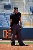 Umpire Brandon Blome during a Florida State League game between the Dunedin Blue Jays and Charlotte Stone Crabs on April 17, 2019 at Charlotte Sports Park in Port Charlotte, Florida.  Charlotte defeated Dunedin 4-3.  (Mike Janes/Four Seam Images)