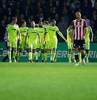 GOAL -  Joe Ledley of Derby County makes it 1-0 to the visitors during the Sky Bet Championship match between Brentford and Derby County at Griffin Park, London, England on 26 September 2017. Photo by Carlton Myrie / PRiME Media Images.