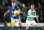 St Johnstone v Celtic…..29.01.20   McDiarmid Park   SPFL<br />Jason Kerr and Leigh Griffiths<br />Picture by Graeme Hart.<br />Copyright Perthshire Picture Agency<br />Tel: 01738 623350  Mobile: 07990 594431