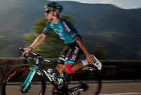 'stretching while rollin' <br /> <br /> Stage 16 from La Tour-du-Pin to Villard-de-Lans (164km)<br /> <br /> 107th Tour de France 2020 (2.UWT)<br /> (the 'postponed edition' held in september)<br /> <br /> ©kramon